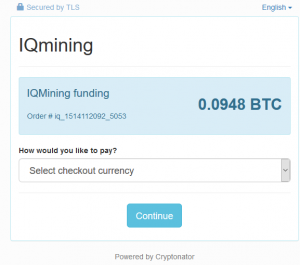 IQ Mining Buy Contract