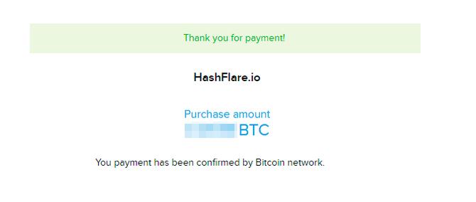 hashflare btc payment