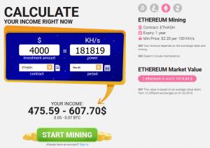 Hashflare Profit Calculator ETHEREUM