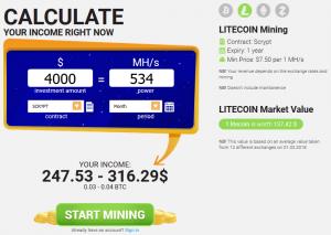 Hashflare Profit Calculator Litecoin
