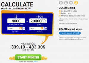 Hashflare Profit Calculator Zcash