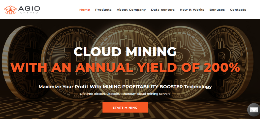 Agio Crypto Cloud Mining - Start Your Earning Today - BTC