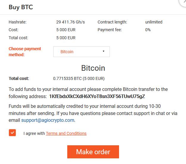 agio crypto buy btc